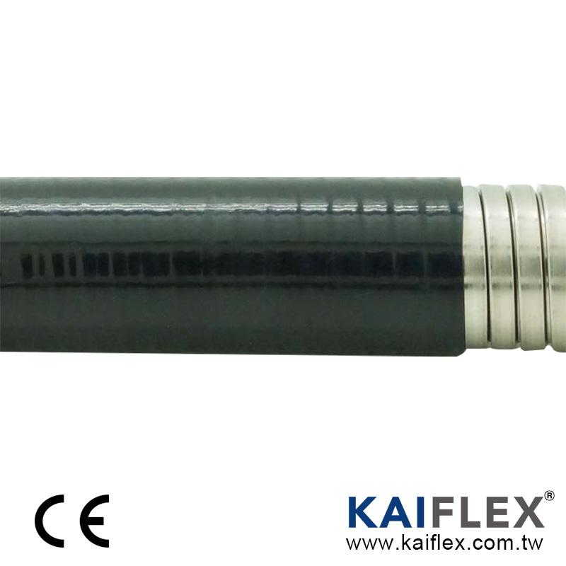 PLTG 液密型金屬軟管, 雙勾不銹鋼, PVC 披覆