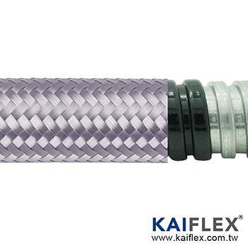 Waterproof Braided Flexible Metal Conduit, Square-lock Gal, PVC Jacket, Tinned Copper Braiding