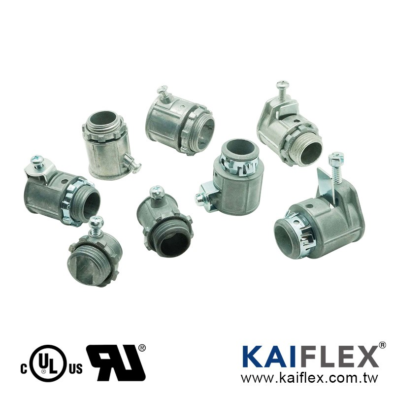 BX Flex Conduit Fitting, Set Screw Type