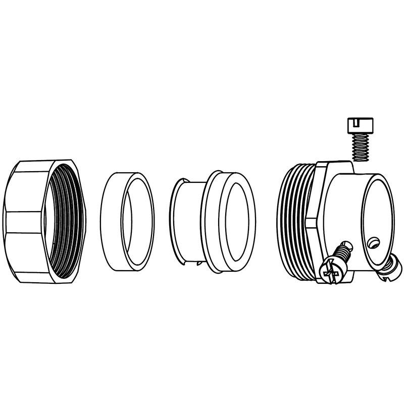 Straight Type, EMT Connector Spec