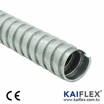 Flexible Metal Conduit, Square-lock Galvanized Steel