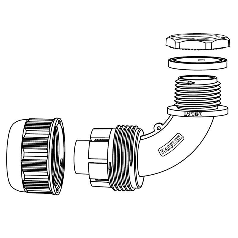 KAIFLEX - Nylon Fitting, Quick Nut Type, Elbow Type (FN63)