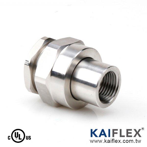 UL 防爆軟管轉接頭,180 度,兩端內螺紋型式 (KF--LK-F)