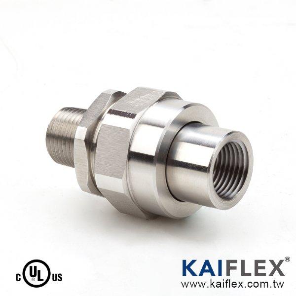 UL 防爆軟管轉接頭,180 度,一端內螺紋接頭一端外螺紋接頭 (KF--LK-F/M)