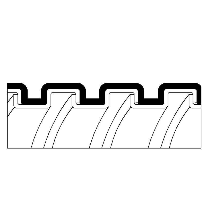 金屬軟管, 單勾鍍鋅鋼, LSZH 披覆 (PAG13LSZH)